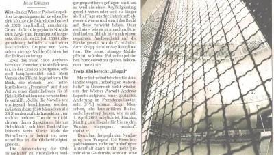 Asylnovelle bringt Polizei ins Schwitzen Der Standard 10.7.09 pix1065x1013