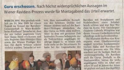 Blutbad im Tempel suche nach der Wahrheit Salzburger Nachrichten 28.9.2010 Seite 19pix878x1986pix