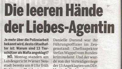 Die leeren Hände der Liebesagentin (Österreich 14.12.2010)