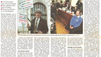 Terror Tierrechtler im Rampenlicht komp  (Wiener Zeitung 3.3.2010, Se