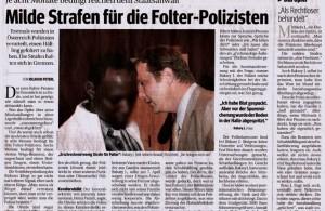 Kurier 01092006 Milde Strafen für Folterpolizisten 1089x777pix farb