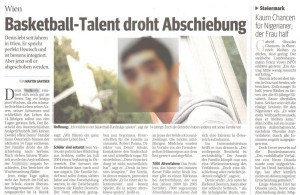 Kurier-30112011-Basketball-Talent-droht-Abschiebung-komppix